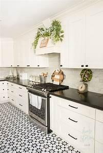 Black, U0026, White, Farmhouse, Christmas, Kitchen