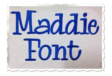 maddie machine embroidery font monogram  rivermillembroidery