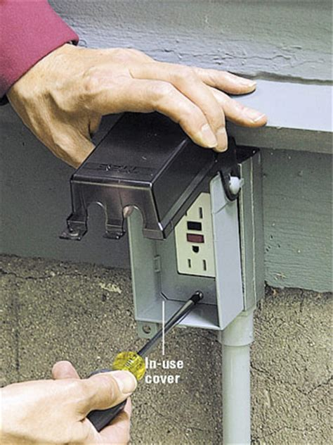 outdoor plug in l post extending power outdoors how to install outdoor wiring