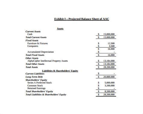 balance sheet templates word excel  templates