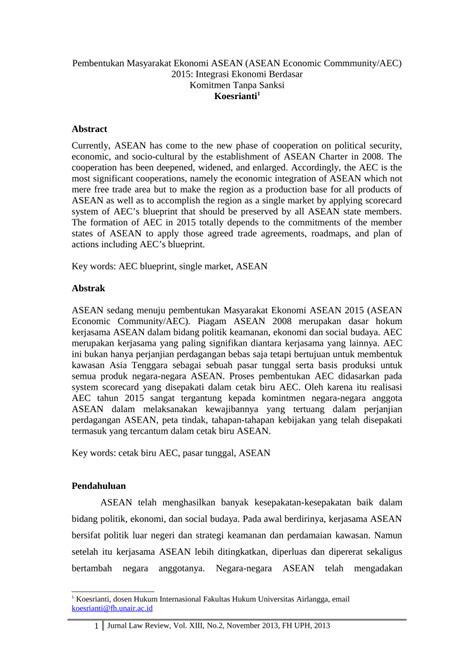 (PDF) Pembentukan Masyarakat Ekonomi ASEAN (ASEAN Economic