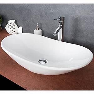 Waschbecken Oval Aufsatz : design keramik waschschale oval aufsatz waschbecken waschtisch waschplatz 781 ~ Orissabook.com Haus und Dekorationen