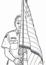 Coloring Guard Honor Pages Printable Drawing Paper sketch template