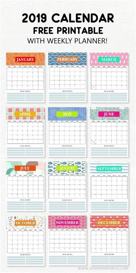 calendar printable  weekly planner super cute