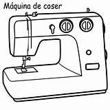 Sewing Coloring Machine Maquina Colorear Coser Dibujos Maquinas Imagui Dibujo Drawing Template Cocer Modista Costura Costurera Pinto Designlooter Cozer sketch template