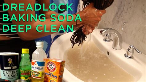 dreadlocks baking soda deep clean tutorialreview youtube