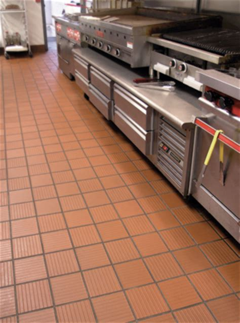 restaurant kitchen floor tile enhanced slip resisting quarry tile 4785