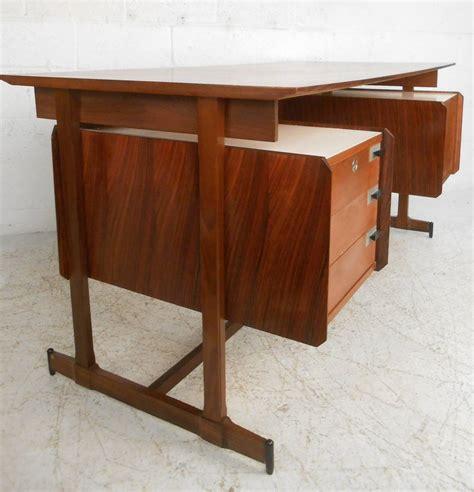 mid century modern italian rosewood  teak floating top executive desk  sale  stdibs
