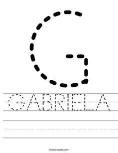 children trace names images worksheets letter