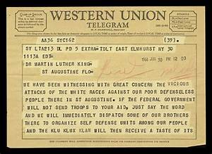 telegram from malcolm x to mlk the martin luther king jr With malcolm x documents