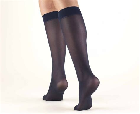 truform womens lites knee high support stockings   mmhg surgical appliance bl