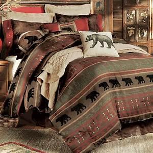Rustic Bedding: Gallatin Bear Bedding Collection Black