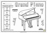 Coloring Harpsichord Template sketch template