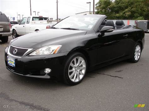 lexus convertible 2010 obsidian black 2010 lexus is 250c convertible exterior