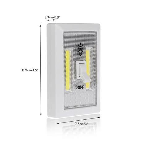 led closet light battery operated 3w cob led wall switch wireless closet cordless night