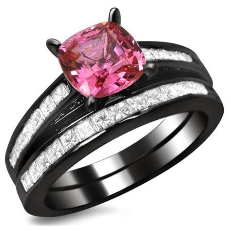 shop noori 14k black gold 1ct tdw cushion cut diamond and