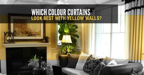 colour curtains    yellow walls