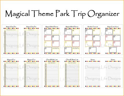 Travel Itinerary Templates For Pages by Disney Planning Printables Freepsychiclovereadings