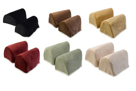 Slipcovers For Sofas Walmart by Decorative Chenille Rounded Arm Caps Pair Antimacassar