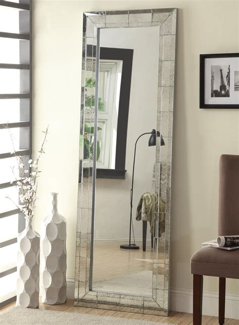 floor mirror value city coaster accent mirrors floor mirror with antique silver finish frame value city furniture