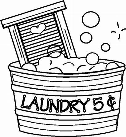Laundry Coloring Pages Wash Board Clothing Printable