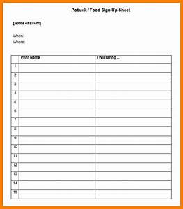meal sign up sheet template aiyin template source With food day sign up sheet template