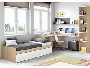 Chambre complete pour ado collection a prix fun so nuit for Chambre ado garçon avec azur futon