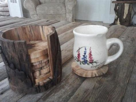 Log Coasters Made With Just Two Tools