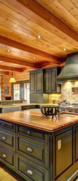 rustic cabin kitchen cabinets best 25 log cabin kitchens ideas on log home 4962