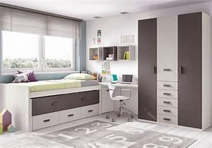 Chambre Ado Garcon Moderne Avec Lit Gigogne GLICERIO