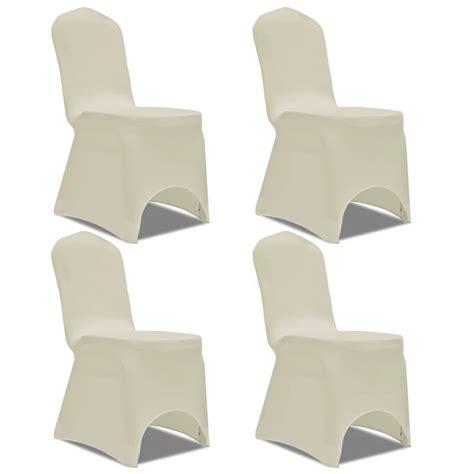 housse chaise extensible pas cher acheter vidaxl housse de chaise extensible 4 pcs crème pas