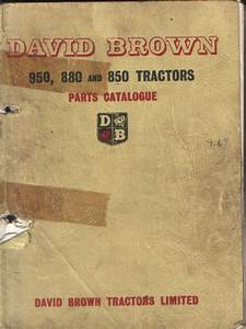 David Brown Tractor 950 880 850 Parts Manual