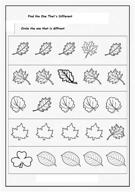 spot differences worksheet  images fall worksheets