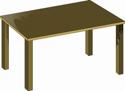 Table Clip Clipart Brown Vector Clker Dinner