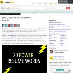 Top 20 Resume Power Words by Resume Writing Pearltrees
