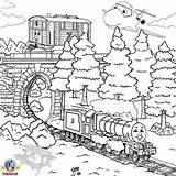 Train Thomas Coloring Colouring Engine Printable Tank Paint Friends Trein Ponte Trem Adult Kleurplaat Colorir Desene Sheets Henry Colour Games sketch template