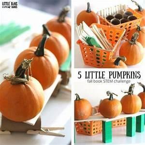 Five Little Pumpkins STEM Challenge for Kids | Pumpkin ...
