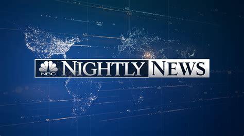 nbc nightly news apr   king   flat screen