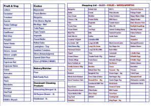 Family Shopping List