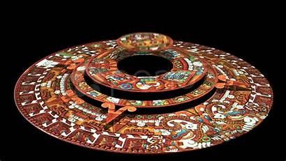 Calendar Aztec Mayan 3d Doomsday Rotates Technically