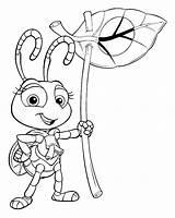 Coloring Bugs Pages Bug Disney Printable Pixar sketch template