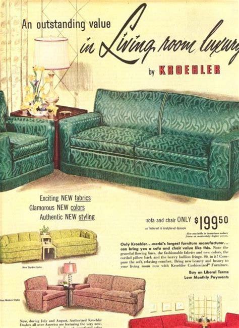 living room luxury vintage kroehler ad mid century