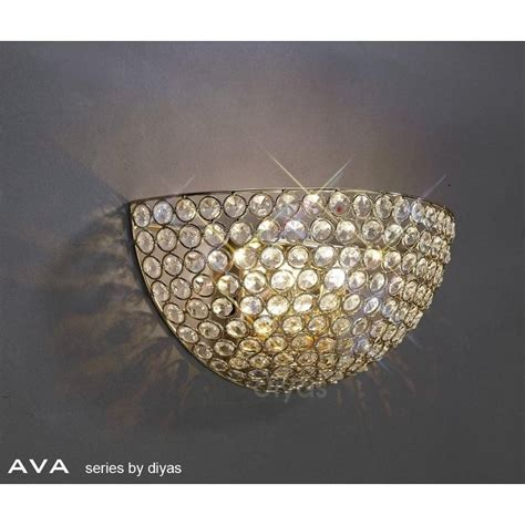 diyas lighting il30758 ava 2 light french gold crystal