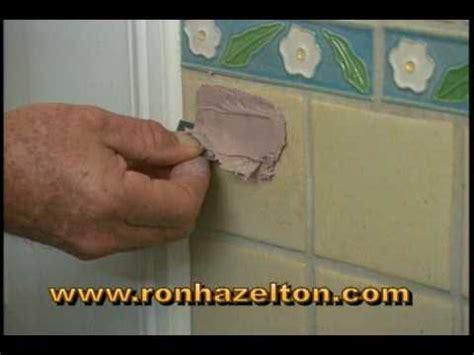 fill  repair holes  ceramic tile youtube