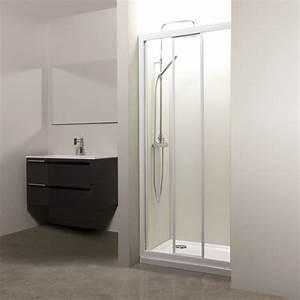 porte de douche coulissante 3 volets verre 4mm florida With porte de douche coulissante 3 volets