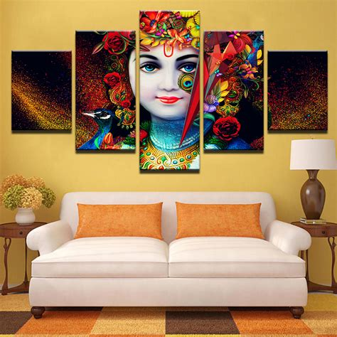 hd printed pictures  living room canvas modular wall