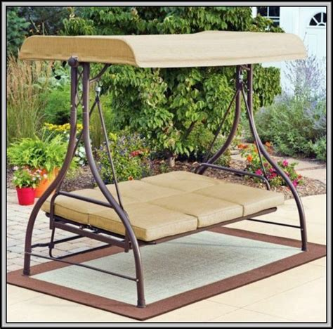 patio swing walmart 3 seater swing chair cushions chairs home decorating