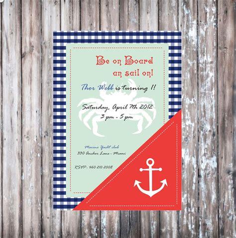 invitation inspiration xavi nautical invitations birthday y baby shower invitations