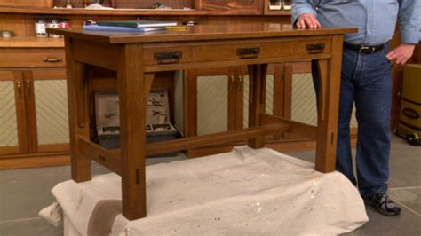 craftsman library table woodworking project woodsmith