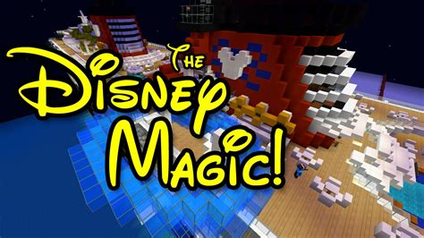 minecraft cruise ship  disney magic youtube
